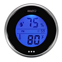 Incubator Thermometer Hygrometer with Hi/Low Memory and Touch Checking Button in Blue Light.Mieo®