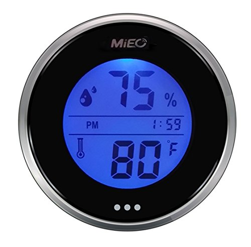 Incubator Thermometer Hygrometer with Hi/Low Memory and Touch Checking Button in Blue (Low Thermometer)