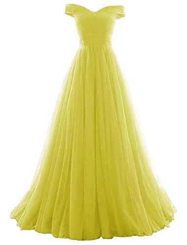 amarillo para mangas mujer trapecio Vestido Vickyben Sin nq4PPY