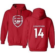 Tcamp Arsenal Shirt Pierre Emerick Aubameyang #14 Men's Hoodie Sweatshirt