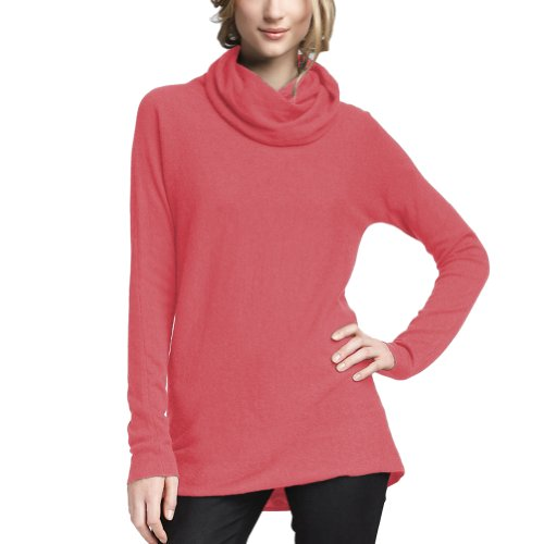 coral cowl neck sweater - 8