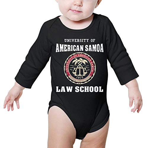(Newborn Black Bodysuit University-of-American-Samoa-Law-School- Long Sleeve Natural Organic Cute)