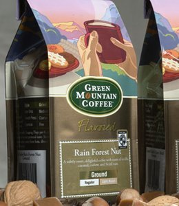 Green Mountain Rainfall Forest Nut, Ground Coffee, 12oz. Bag (Pack of 2)