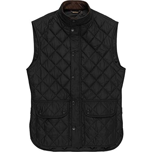 Barbour Quilted Vest - Barbour Lowerdale Quilted Vest (Black, XL)