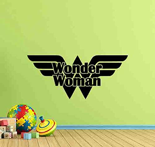 Wonder Woman Wall Decal Superhero Wall Decor Wonder Woman Logo Girl Gift Vinyl Sticker Girl Bedroom Sign Print Wall Art Kids Playroom Decor Children Nursery Poster 997