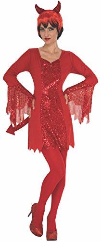 Rubie's Costume 821064-L Co Women's Devil, Red, Large ()