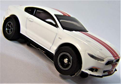(Auto World White 2016 Ford Mustang GT Cars N Coffee Ho Scale Slot car)