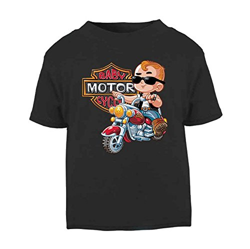 Baby Motor Club Childrens T-Shirt Kids Top Toddler T-Shirt Novelty Bikers Motorbike Childrens (6-12 Months, White) Ickle Peanut