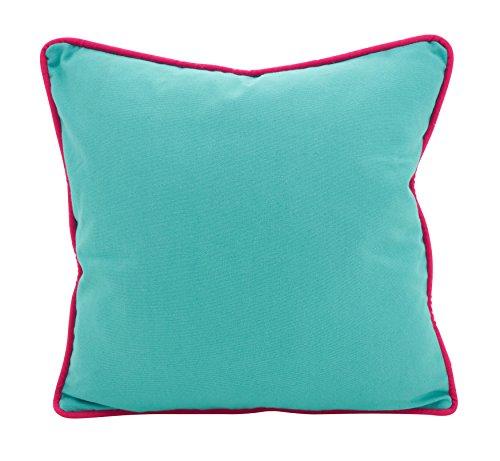 SARO LIFESTYLE Jeunesse Collection Colourpop Piping Throw Pillow, 18 , Turquoise