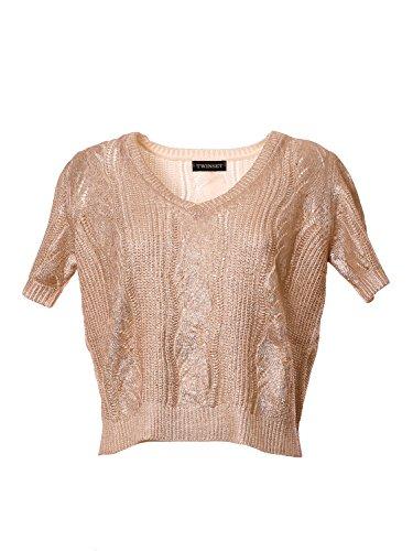 Twin Set Damen TS831D2642 Gold Baumwolle Pullover 1nDUlhT