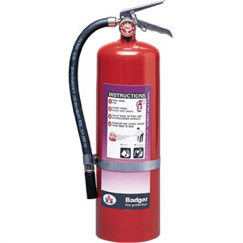(Badger Extra 10 lb Purple K Extinguisher w Wall Hook 23778 Fire Safety Detection)