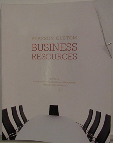 Business Resources: MGT 3513 Introduction to Human Resource Management MSU