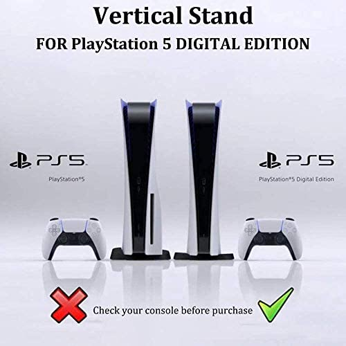 OUGIC - Soporte vertical compatible con consola Playstation 5 edición digital/consola PS5 edición digital 4