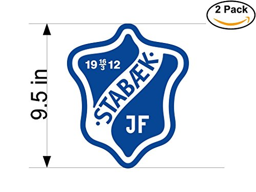 fan products of Stabaek JF Norway Soccer Football Club FC 2 Stickers Car Bumper Window Sticker Decal Huge 9.5 inches