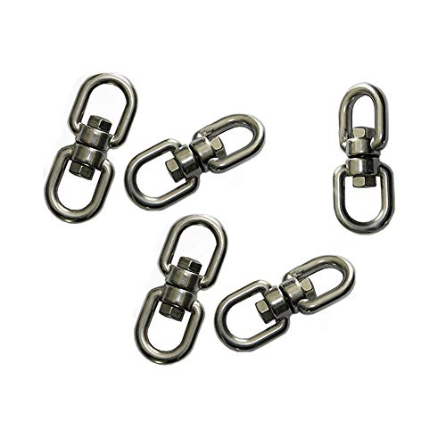 (5 Double Ended Swivel Eye Hook Shackle Ring Connector ,0.37