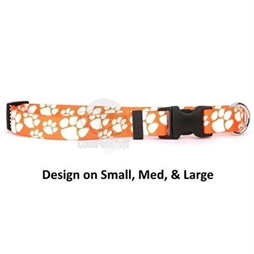 Pet Care Preferred Clemson Tigers Nylon Collar - Medium by Pet Care Preferred
