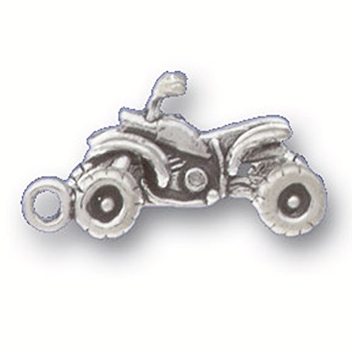 - 925 Sterling Silver Classic Motor Vehicle Off-Road Sport Atv Pendant Charm