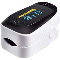 Oximetro/Pulsometro Digital, Pantalla OLED de 2 Colores para Mejor visualizción de Resultados,monitoreo de saturación de…