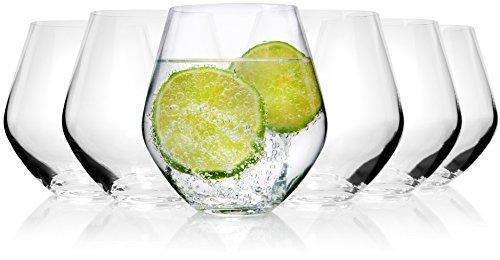 Bluespoon Trinkgläser Set 'Michelle' aus Kristallglas 6 teilig | Füllmenge 500 ml | Ideal auch als Cocktailglas geeignet | Top Qualität und Verarbeitung