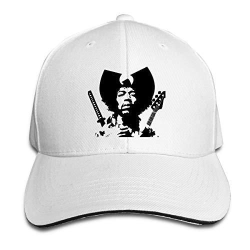 Corrine-S Jimi Hendrix Outdoor Leisure Cotton Snapback Cap Adjustable White