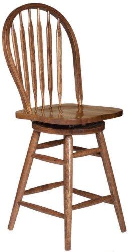 Dooley's 5105 Solid Oak Arrowback Barstool, 19-1/2