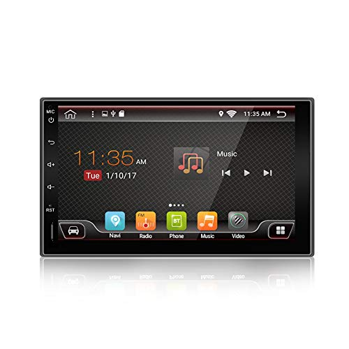 Quad Core 7 inch 2 Din Android 6.0 Car Stereo Radio,HD 1024x600 Muti-touch Screen GPS Navigation Without DVD Player Support 3G WIFI Bluetooth OBD2 Mirror Link with Backup Camera