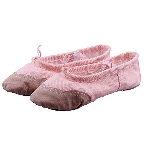 Lisianthus002 - Zapatillas de danza de Lona para niña Rosa - rosa