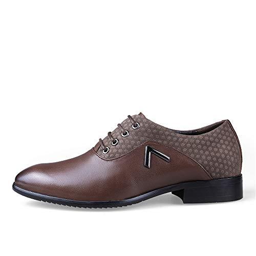 e Color grandi morbide Marrone EU casual dimensioni Pelle uomo Scarpe classiche Scarpe Light Oxford shoes Dimensione da traspiranti 2018 46 scarpe Uomo di Brown Scuro uomo da Jiuyue FRx7Zw