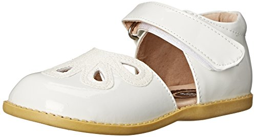Livie & Luca Petal Summer Sandal (Toddler/Little Kid),White,13 M US Little Kid Youth White Patent Footwear