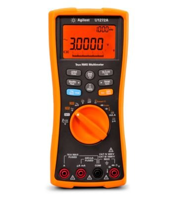 Keysight Technologies U1272A Handheld Digital Multimeter, 4.5 Digit, Water and Dust Resistant