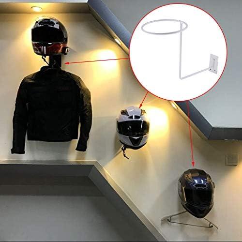 B Blesiya 1 Stück Weiß Helmständer Motorrad Zubehör Motorrad Jacke Haken Helm Kleiderbügel Helmhalter Auto