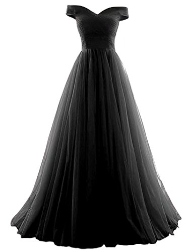 Vickyben Women's A-Line Tulle Prom Formal Evening Homecoming Dress Ball ()