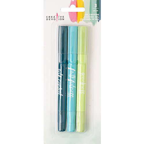 - American Crafts 3 Piece Gel Crayon Set 1 Creative Devotion