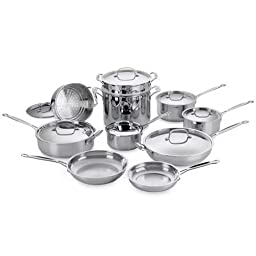 Cuisinart 77-17 Chef\'s Classic Stainless 17-Piece Cookware Set DISCONTINUED BY MANUFACTURER