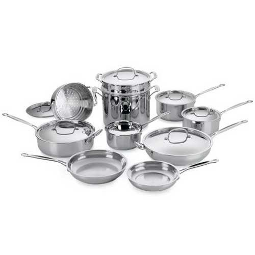 Cuisinart 77-17 Chef's Classic Stainless 17-Piece Cookware Set image