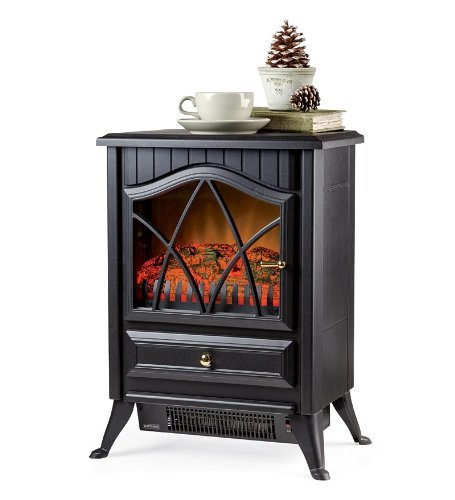 Cheap Plow & Hearth Portable Indoor Home Compact Electric Stove Fireplace Heater 4600 BTU 16.5 W x 11 D x 21.5 H Black Black Friday & Cyber Monday 2019