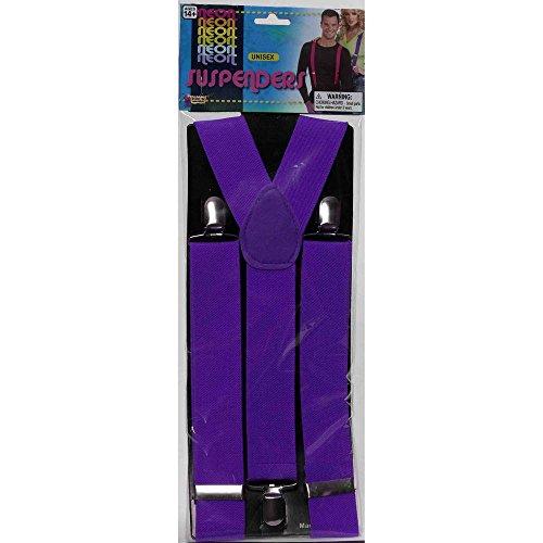 (Forum Novelties 67781 Neon Purple Suspenders, Standard, Pack of)