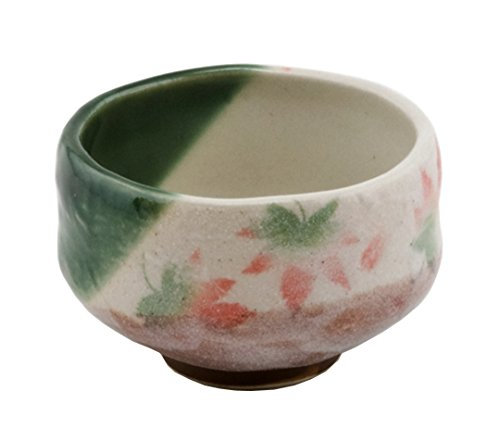 Happy Sales HSMB-CWML2, Authentic Japanese Traditional Tea Ceremony Matcha Bowl Chawan Handcrafted in Japan, Maple Leaf Momiji Design