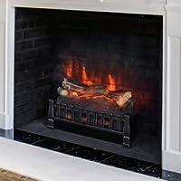 Duraflame DFI021ARU Calentador eléctrico de leña con cama Ember realista, negro