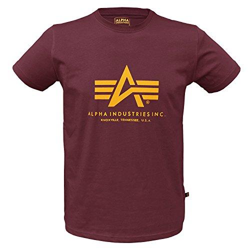 Homme Longues Ind Manches Uni Alpha T shirt Bordeaux FgYwqxTX