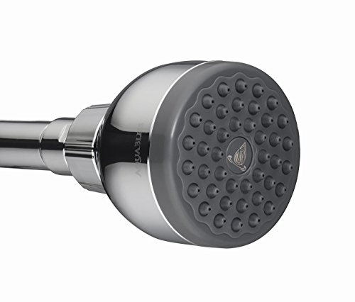 TurboSpa 3 Inch High Pressure Shower Head w/Flow Restrictor Melts Stress into Bliss at Full Power. 42 Nozzle Wide Spray High Flow Showerhead Drenches You Fast, No Dry Spots Guaranteed - Chrome by AquaBliss (Image #8)