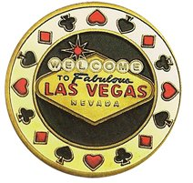 UPC 853323002110, Da Vinci Hand Painted Poker Card Guard Protector, Welcome to Fabulous Las Vegas