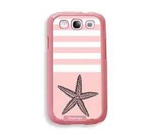 Shawnex Starfish Nautical Stripes ThinShell Protective Pink Plastic - Galaxy S3 Case - Galaxy S III Case i9300