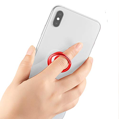Glitter Bling Bling Phone Ring Holder,Sparkle Phone Ring Kickstand, Cell Phone Finger Ring Grip for Almost All Phones,Pad(Red)