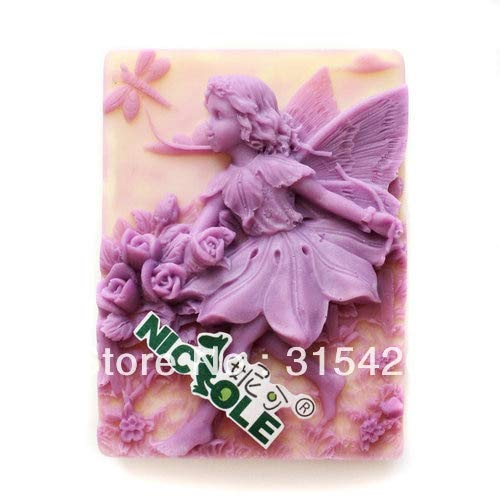 1 piece Swing Angel Silicone Handmade Soap Flower Fairy Mold Crafts running fairy DIY Mold cake mold Halloween spirit genius