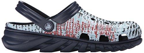 Navy dúo Crocs malla Zueco de impresión Max mula vSzqT