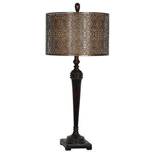 ble Lamp with Ornate Shade (Burnished Towel Bar)