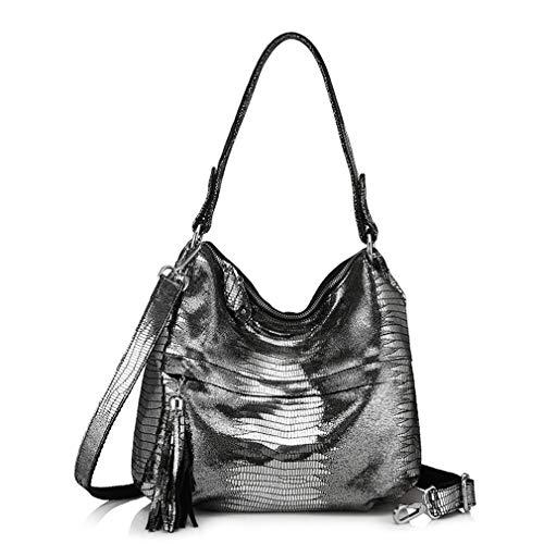 Tassel Messenger Hobos Bags Silver Shoulder Handbag Anti Women RAExqpww