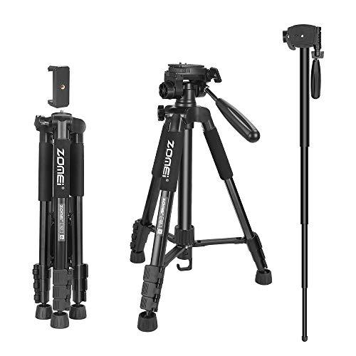 ZOMEi Digital SLR Camera Tripod Aluminum Travel Portable 2 in 1 Tripod Monopod for Canon Nikon