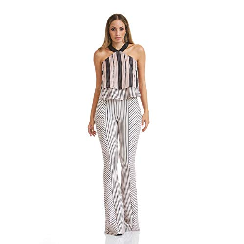 Calça Acostamento Feminino Fashion Stripes Manhattanville Mini Estampado